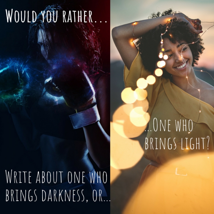 Writing Prompt Would You Rather Write